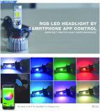 LED 헤드라이트 전구 장비 - Smartphone는 Bluetooth RGB 악마 눈 + 차를 위한 LED 헤드라이트를 APP 가능하게 했다