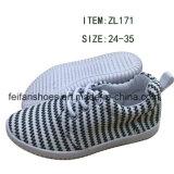 新しい到着の子供の注入のズック靴の偶然靴(FFZL170225-01)