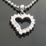 [ستينلسّ ستيل] مجوهرات بيع بالجملة زركون بلّوريّة قلب مدلّاة مجوهرات