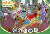 Parque de diversões Mechanical Carousel Horse Ride Machine para crianças