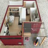 Camera prefabbricata d'inquadramento del contenitore dell'acciaio della struttura d'acciaio dei piedi 40hq