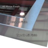 Foshan gros Surface miroir 0.3-3.0mm d'épaisseur de 201 304 316 en acier inoxydable Tôles en acier laminées à froid