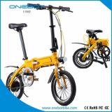 """La pédale d'Onebot a aidé le vélo électrique avec 16 le """" pneu, 250W le moteur, batterie au lithium de l'atterrisseur 5.2ah"""