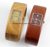 Kundenspezifisches hölzernes Armband überwacht Quarz-hölzerne Armband-Dame-Uhr