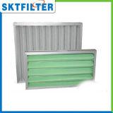 Nouveau châssis en aluminium de l'efficacité primaire Panneau plissé du filtre à air du filtre à air