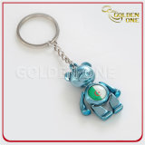 Gekleurde Mooi draagt het Douane Afgedrukte Metaal Keychain van het Embleem