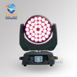 36*18W 6en1 Rgbaw Zoom Cabezal movible LED UV Light