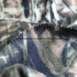 双方が付いている葉プリント北極の羊毛は1側面のAntipillingにブラシをかけた