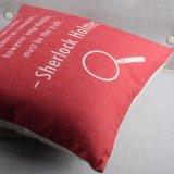 Almofada de cadeira de linho com algodão Rectangle Polyester Plain