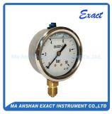 Indicateur de pression rempli parLiquide Mesurer-Hydraulique normal d'Oill de pression d'utilisation