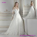 A caraterística a mais impressionante do vestido de casamento longo de Ballgown da luva do projeto do corpete