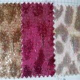 Шестиугольная сетчатая кожа PU яркия блеска для одежды Hw-762 поясов ботинок