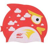 動物の印刷の漫画の子供の水泳の帽子