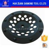 Le double rame la roue de cuvette de pouce PCD des segments 7 de PCD pour le béton