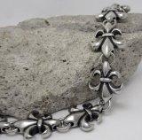 Punk Titanium Steel Jewelry Hommes Bracelets Anchor Silver