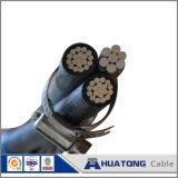 0.6/1kv PVC/XLPEのアルミニウムコンダクター空気の束ねられたケーブルツイストABCケーブル