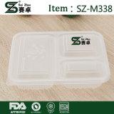 3 Compaartment Feinkostgeschäft-Nahrungsmittelbehälter mit Kappe (850ML)