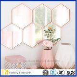 Faites de verre flotté décoratif non tramés personnalisée miroir mural