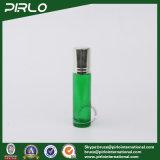 Rodillo de aceite esencial de vidrio verde de 10 ml en la botella