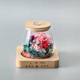 Подарок цветка Rose головной в стекле для украшения венчания