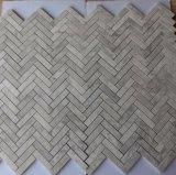 Оптовая серая мраморный стеклянная плитка мозаики, Polished плитка мозаики