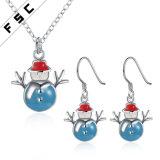 Выдвиженческие ювелирные изделия серьги ожерелья снеговика подарка установили для рождества