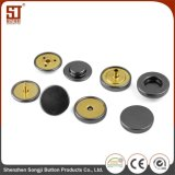 Botón individual redondo de encargo al por mayor del broche de presión del metal de Monocolor
