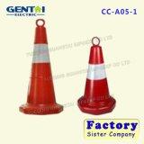 Cones de tráfego de estrada de borracha PE de alta qualidade reflexiva