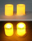 Flameless指導者の携帯用電池式のこはく色の明滅の結婚式の奉納の蝋燭のギフト