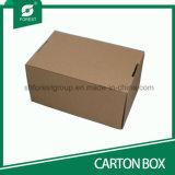 Коричневый коробки из гофрированного картона для транспортировки с помощью пользовательских печать