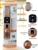 Desplazamiento del bloqueo de puerta biométrico del telclado numérico de la huella digital del acero inoxidable de la cubierta