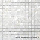 Frischwassershell-Mutterperlen-reines weißes Quadrat-Mosaik