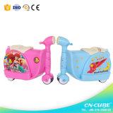 新しいモデルの子供のゴム製車輪が付いている堅いシェルの荷物の子供旅行スーツケース