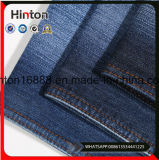 Indigo Dark Blue Twill Cotton Polyester Spandex Denim Fabric
