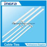 Lazos del cierre relámpago del bloqueo del trinquete de la atadura de cables del acero inoxidable de la buena calidad