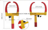 赤くおよび黄色の車輪クランプ車ロック