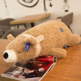 Brinquedo enchido para baixo enchido do urso polar do brinquedo do luxuoso