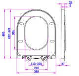 Automatischer waschbarer Toiletten-Sitzdeckel mit Scharnieren SUS304