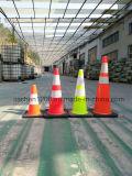Cone do tráfego do PVC 450mm da qualidade superior de preço razoável de Jiachen com base de borracha