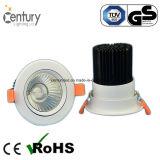 아래로 2.5inch 7W Ultralight 720-750lm LED 천장 빛