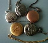 Hecho a la medida de la cadena cuarzo reloj de bolsillo antiguo