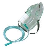 Máscara de oxígeno no reutilizable del equipamiento médico con aislante de tubo