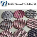 Granito e almofada de polonês molhada concreta do diamante para a máquina de polonês