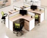 Estação de trabalho de madeira da equipe de funcionários do caixeiro do conjunto da divisória do escritório do MDF (HX- NCD088)