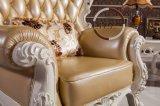 Sofà d'angolo di cuoio moderno per il salone
