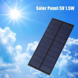 5V 1.5W 300mA Epoxy Painel Solar para Bateria Cell Charger