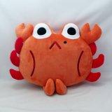 Juguete relleno cangrejo de la almohadilla de la dimensión de una variable del cangrejo