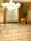 De moderne Keukenkast van de Melamine van de Korrel van de Okkernoot Houten