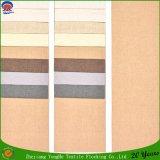 Tissu imperméable à l'eau de rideau en polyester de franc tissé par tissu ignifuge de rideau en arrêt total de textile