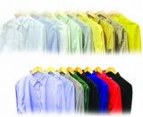 L'école plaine uniforme teints en fils peignés tissus pour chemises